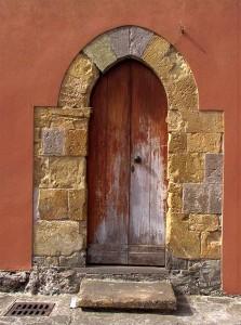 Ingresso della Chiesa di San Gregorio (Sardara)