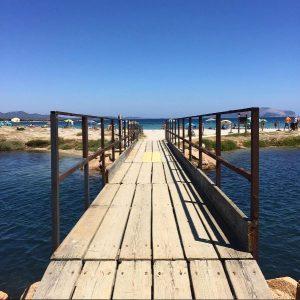 Ponte di legno per spiaggia Marina Maria (Murta Maria)
