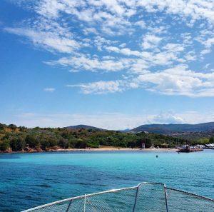 Spiaggia nel Porto Costa Corallina